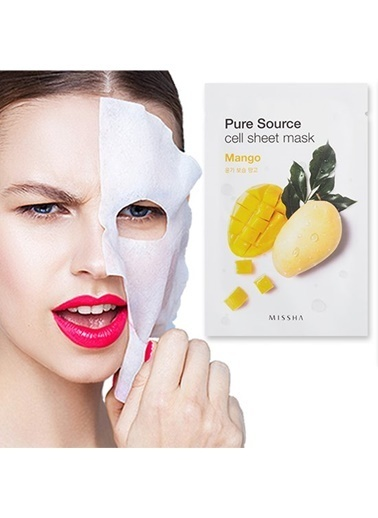 Missha Pure Source Cell Sheet Mask (Mango) Renksiz